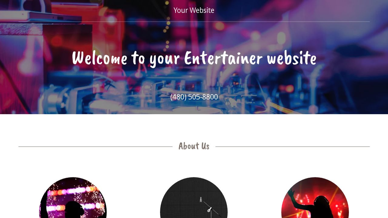 Entertainer website templates godaddy entertainer example 12 magicingreecefo Images