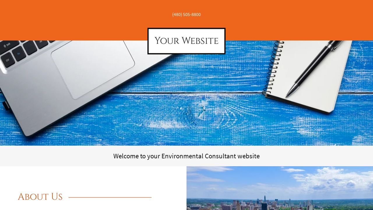 Environmental Consultant Website: Example 12