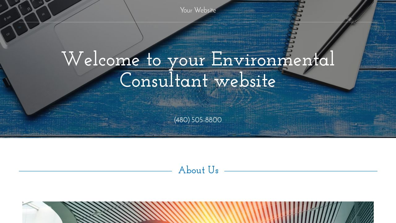 Environmental Consultant Website: Example 13