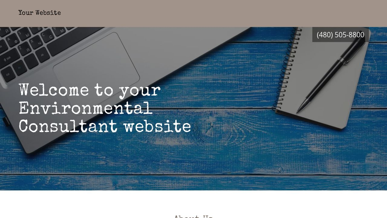 Environmental Consultant Website: Example 14