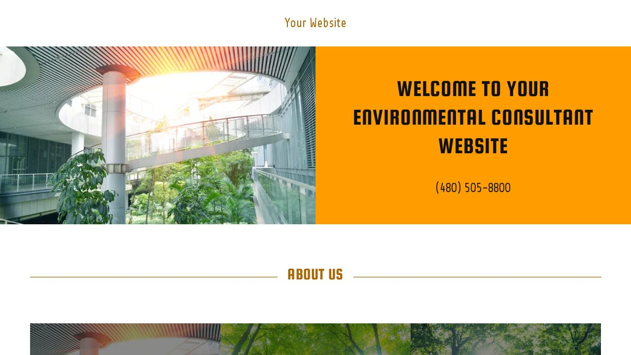 Environmental Consultant Website: Example 15