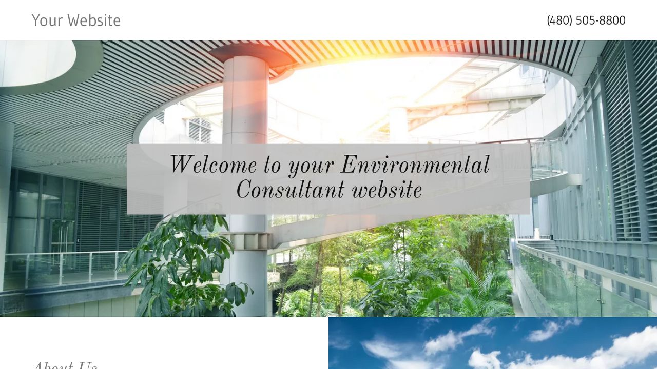 Environmental Consultant Website: Example 2