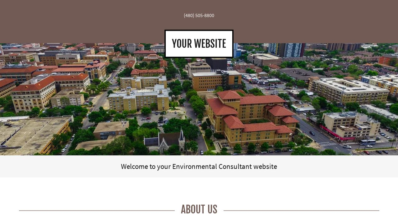 Environmental Consultant Website: Example 5