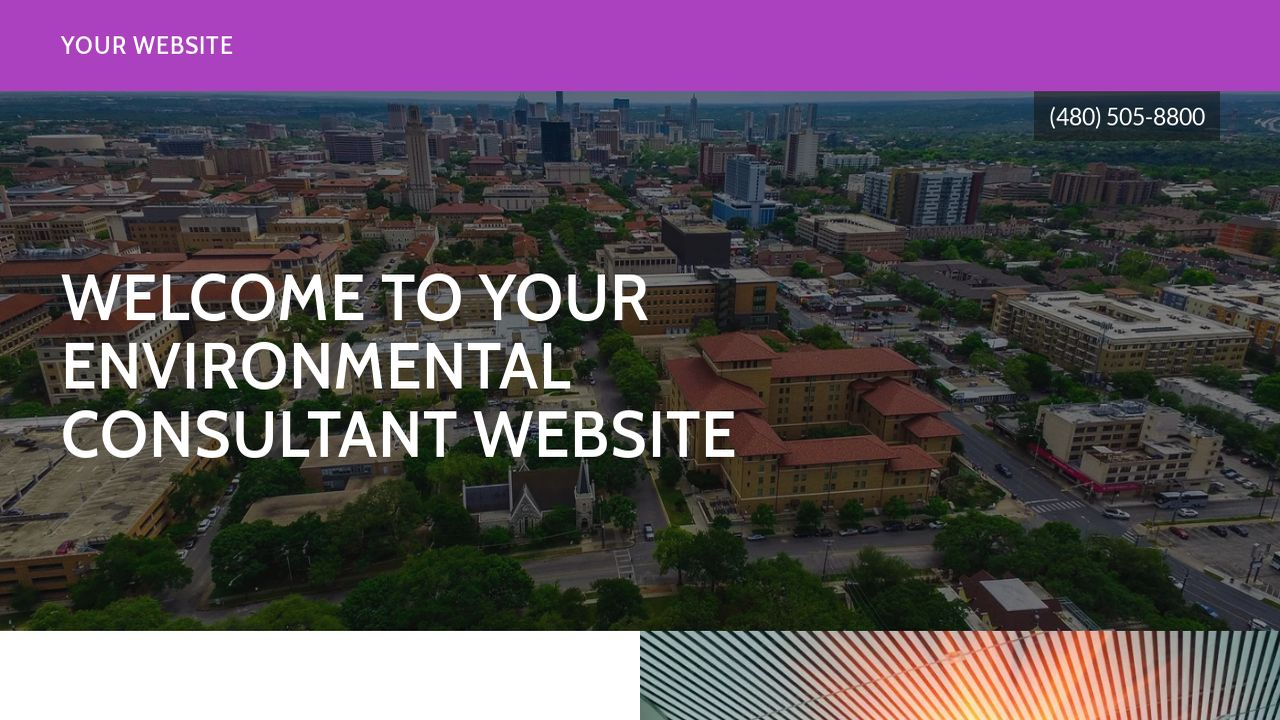 Environmental Consultant Website: Example 7