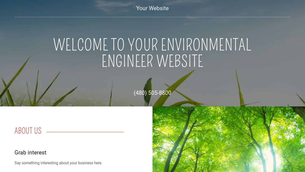 Environmental Engineer Website: Example 13