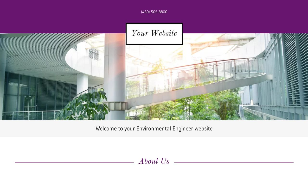 Environmental Engineer Website: Example 14