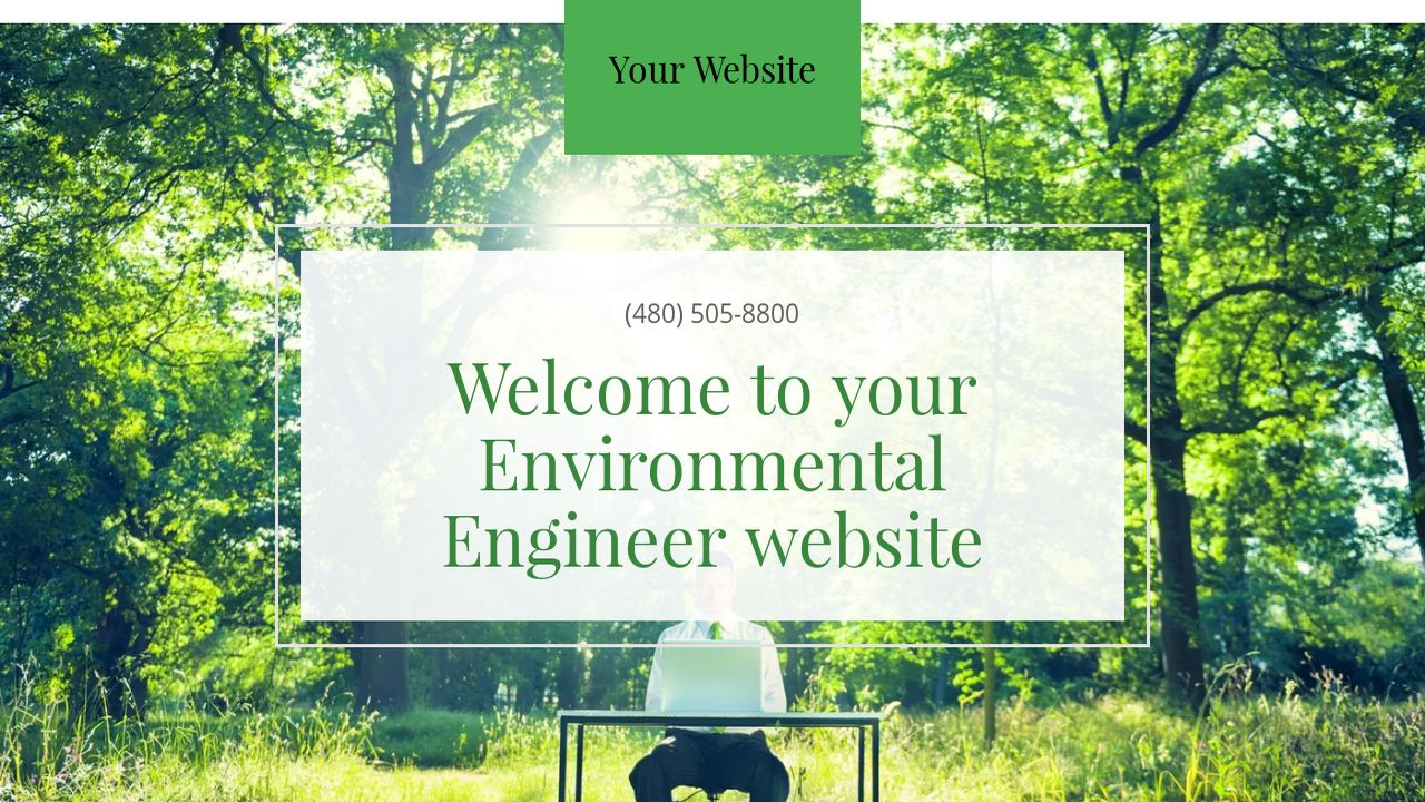 Environmental Engineer Website: Example 4