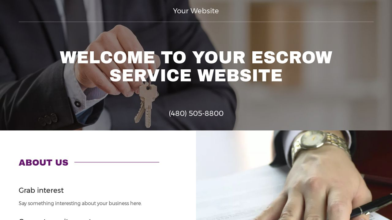 Escrow Service Website: Example 17