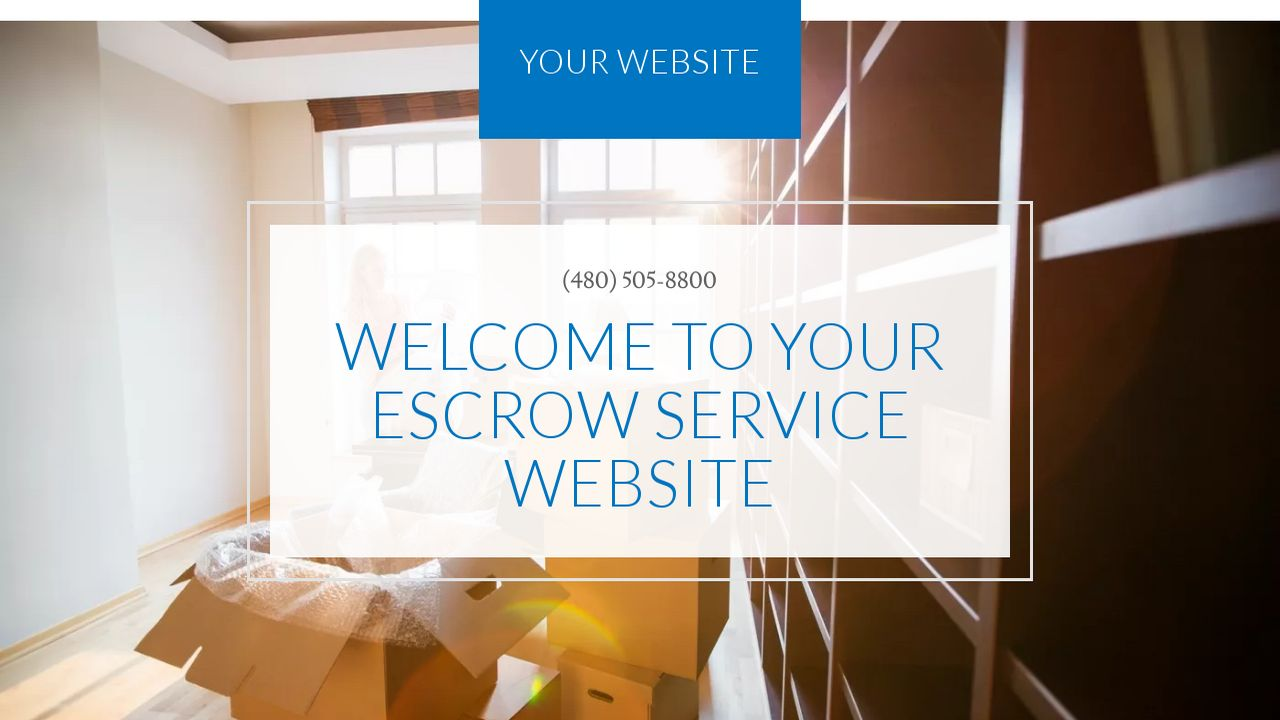 Escrow Service Website: Example 6