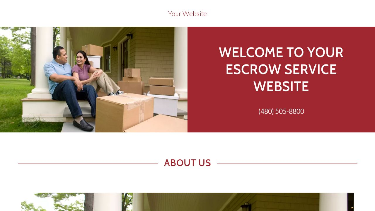 Escrow Service Website: Example 8