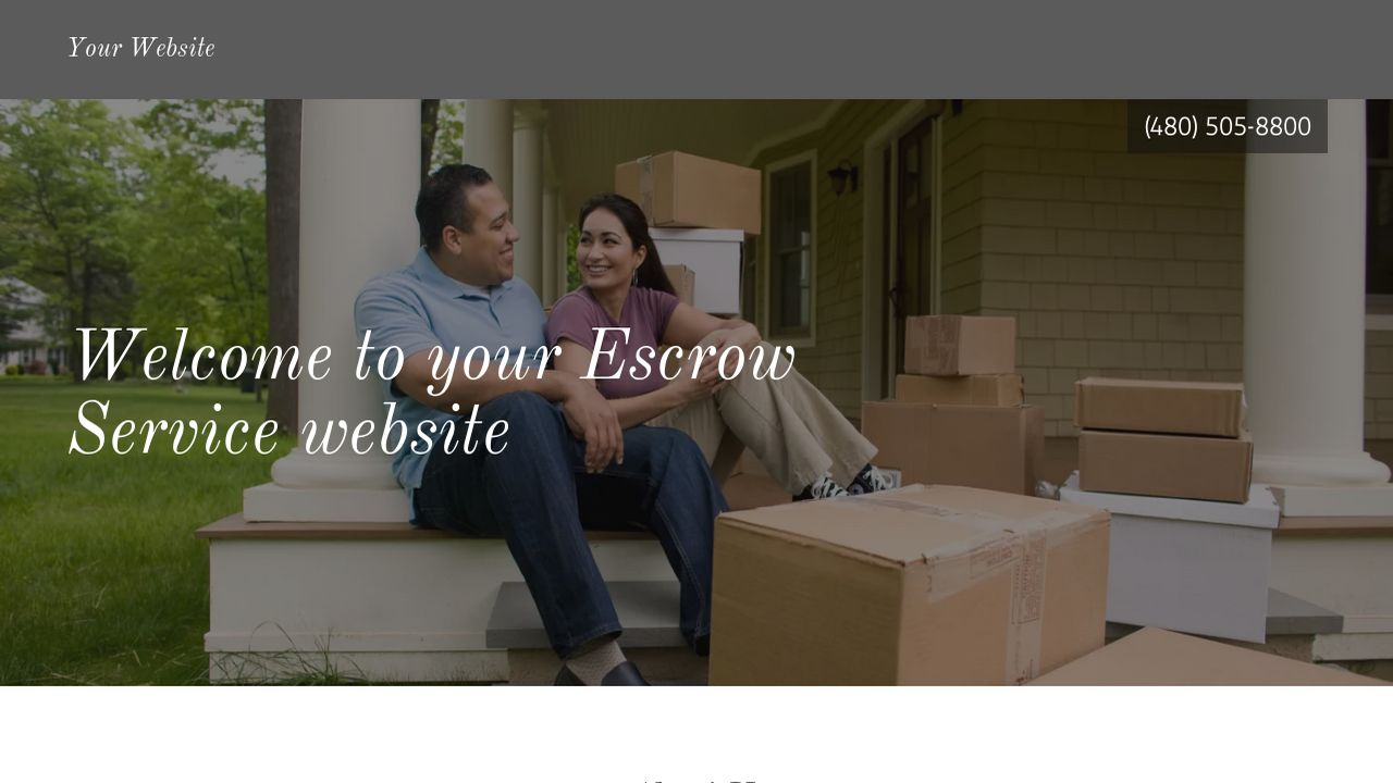 Escrow Service Website: Example 9
