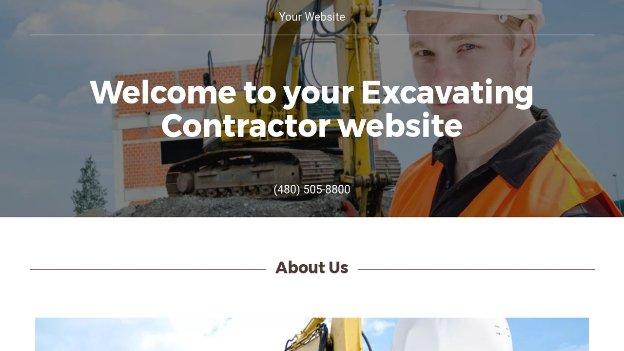 Excavating contractor website templates godaddy excavating contractor example 10 pronofoot35fo Image collections