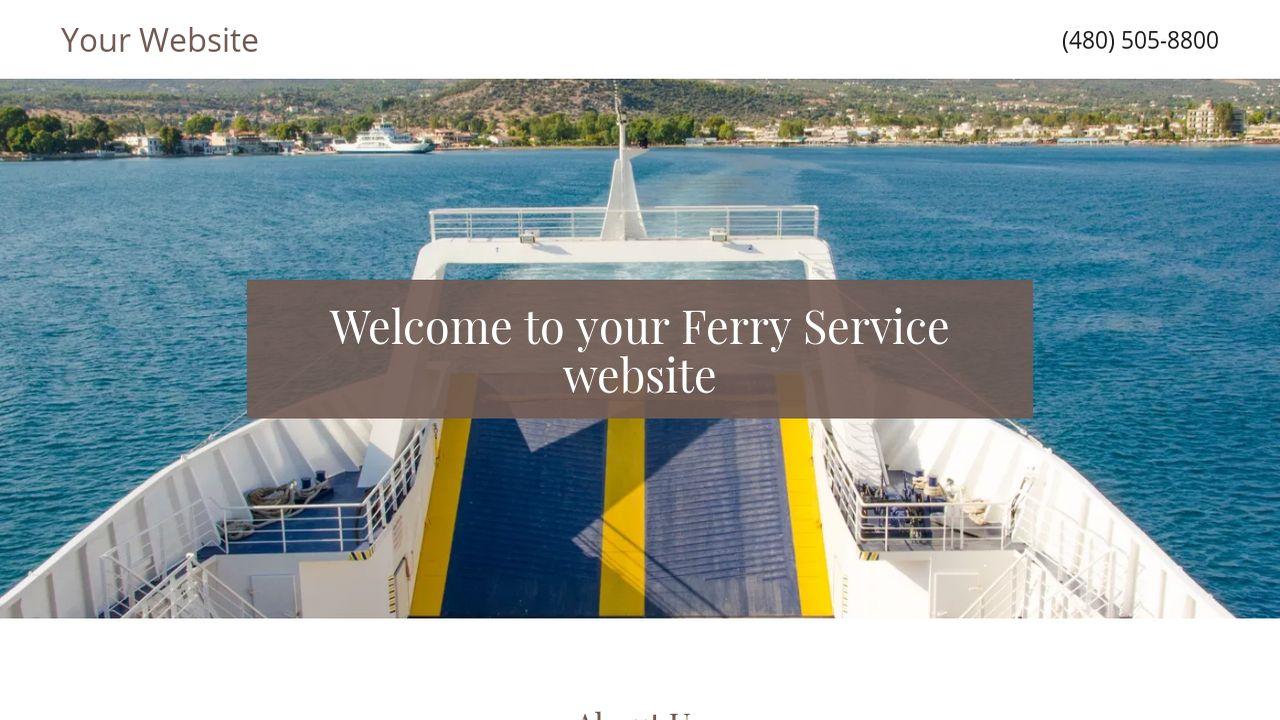 Ferry Service Website Templates | GoDaddy