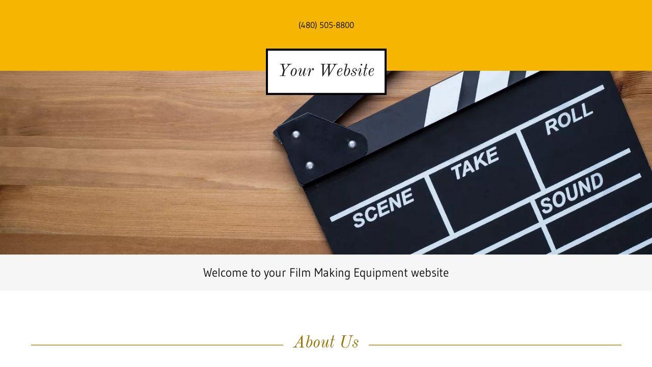 example 15 film making equipment website template godaddy