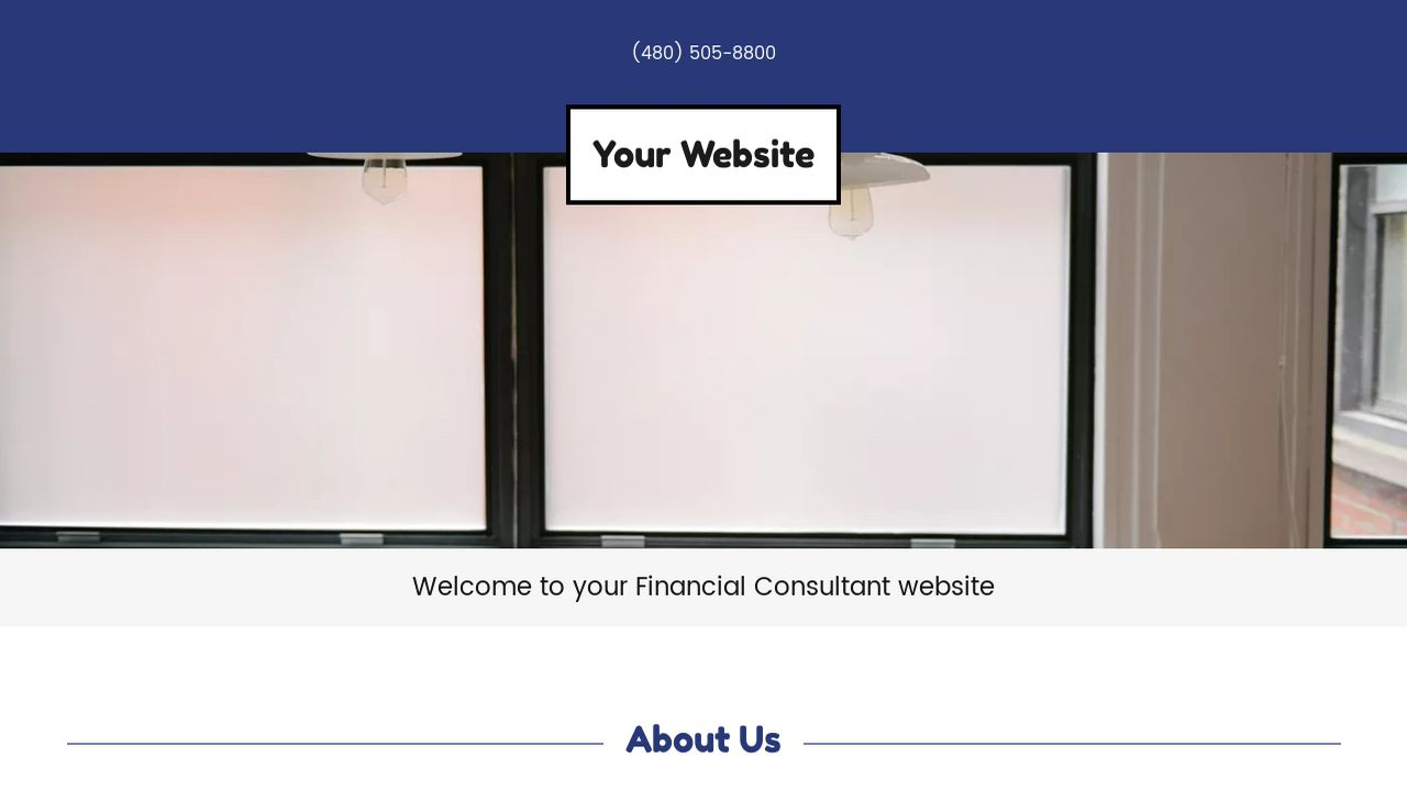 Financial Consultant Website: Example 1