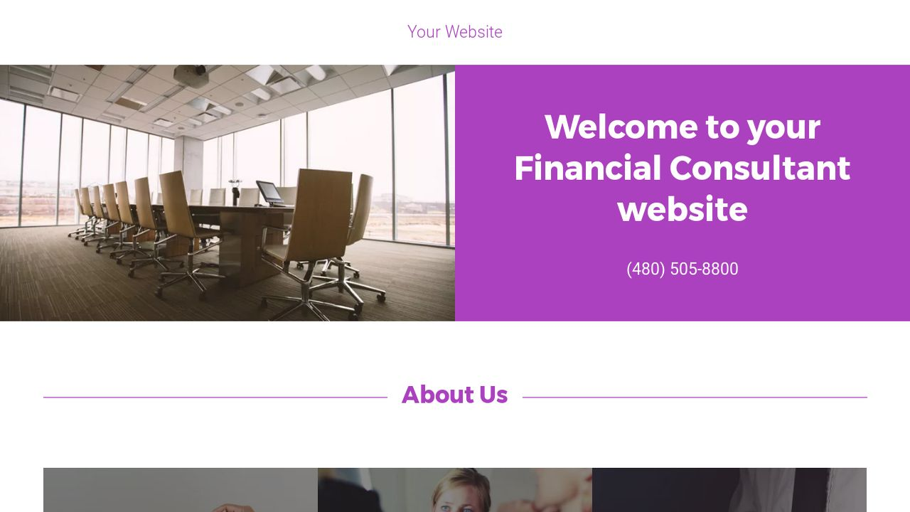 Financial Consultant Website: Example 11