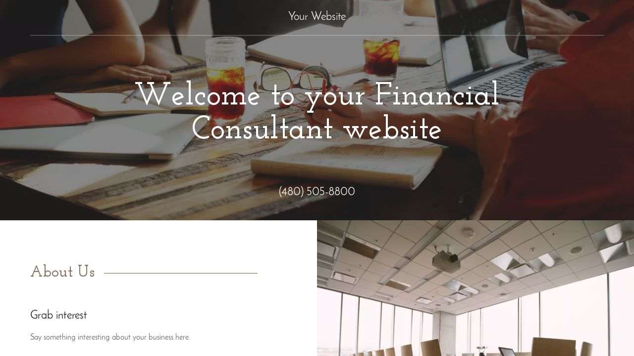 Financial Consultant Website: Example 14