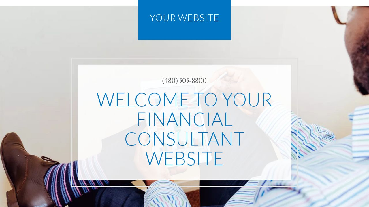 Financial Consultant Website: Example 17