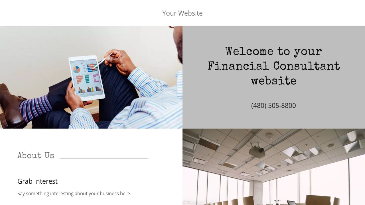Financial Consultant Website: Example 4