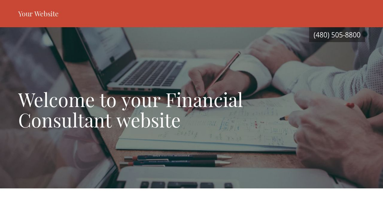 Financial Consultant Website: Example 5