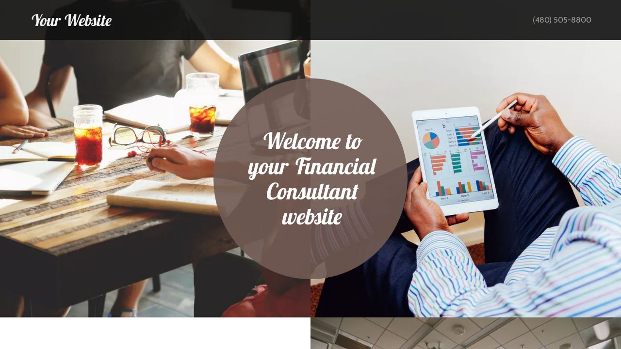 Financial Consultant Website: Example 9