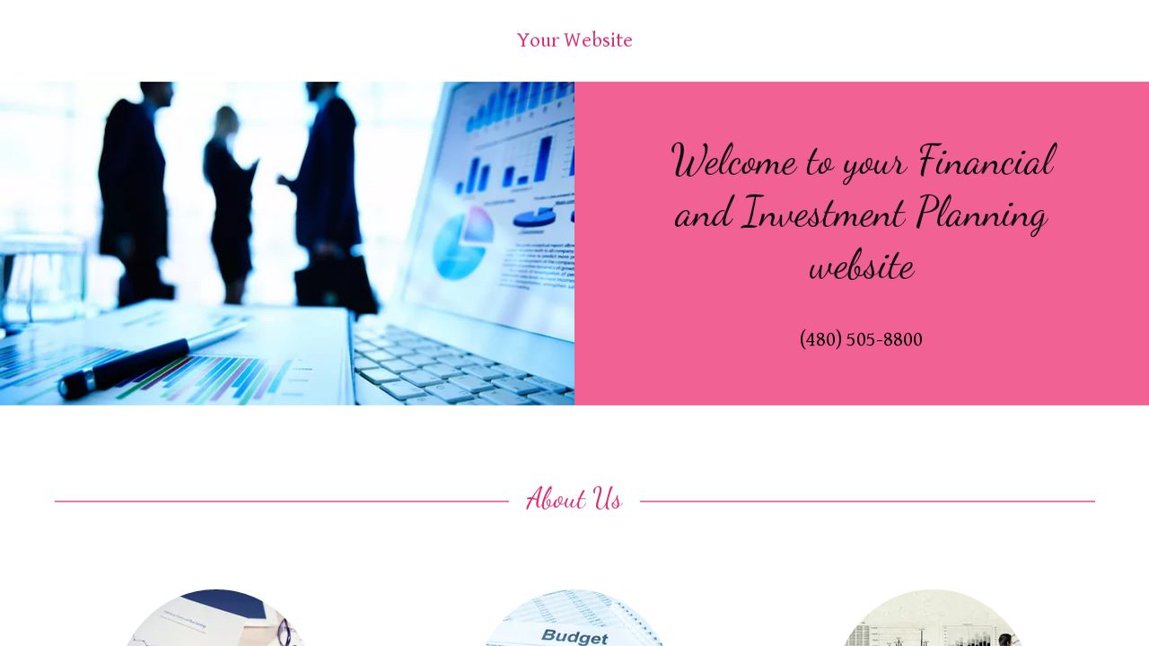 Financial and Investment Planning Website: Example 1