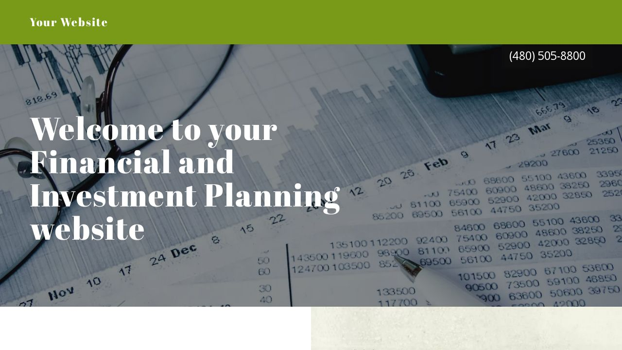Financial and Investment Planning Website: Example 10