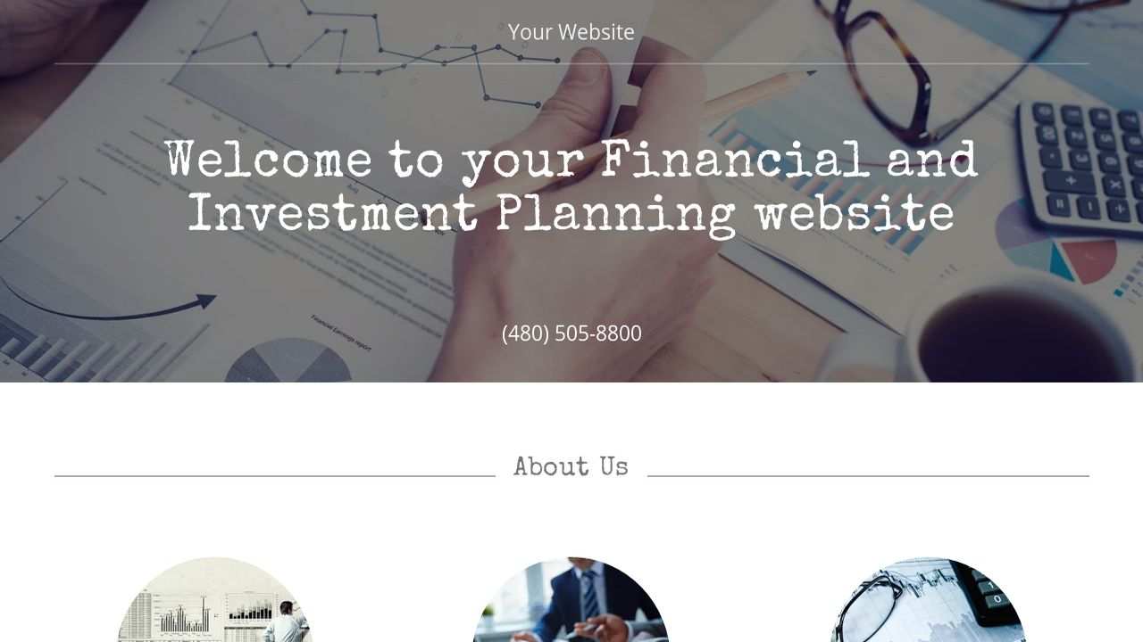 Financial and Investment Planning Website: Example 11