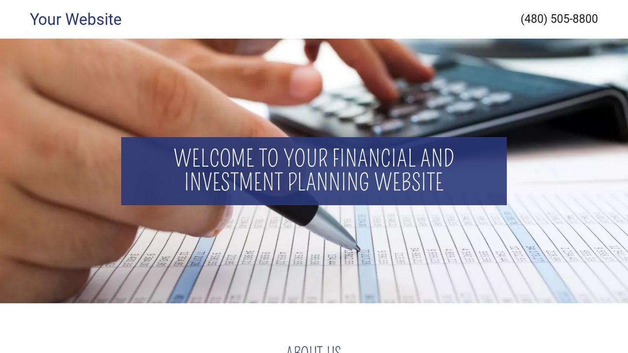 Financial and Investment Planning Website: Example 13