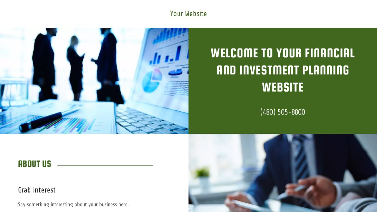 Financial and Investment Planning Website: Example 15