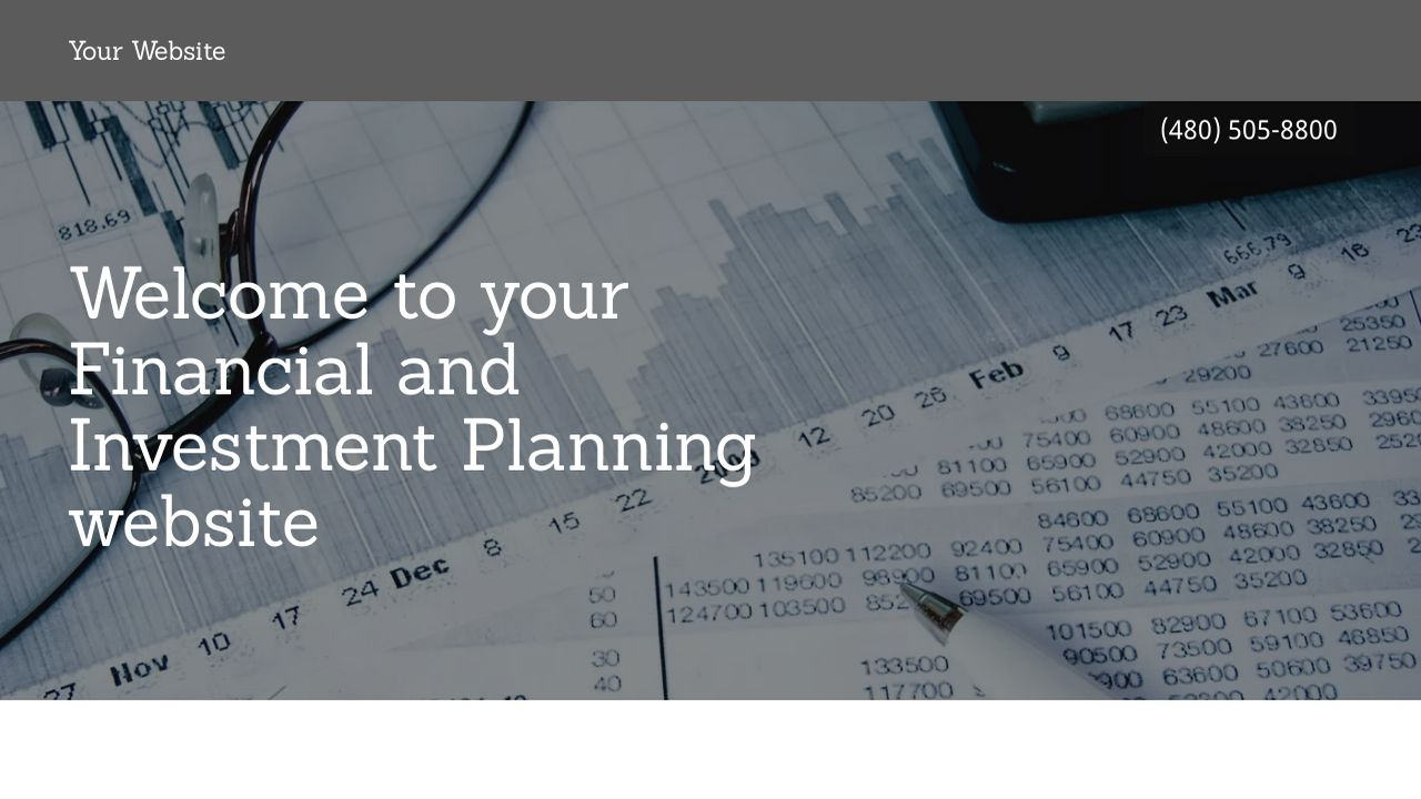Financial and Investment Planning Website: Example 17