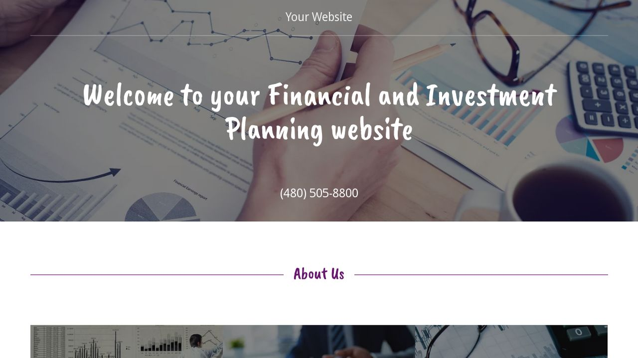 Financial and Investment Planning Website: Example 18