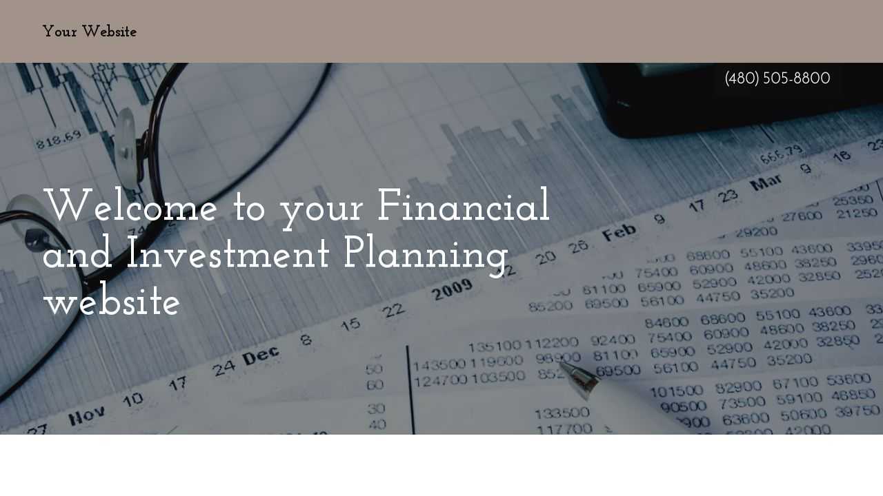 Financial and Investment Planning Website: Example 3