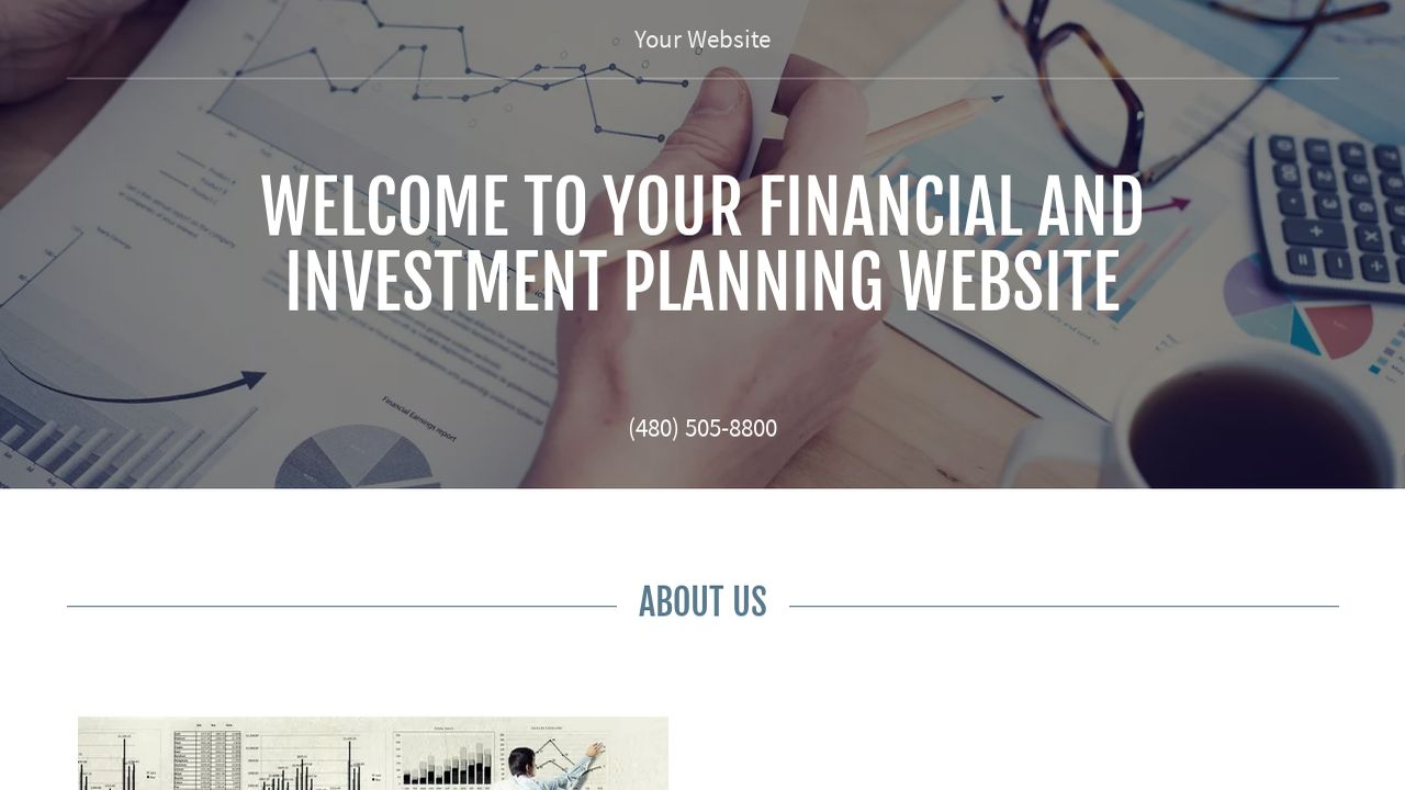 Financial and Investment Planning Website: Example 4