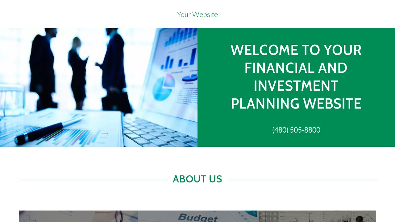 Financial and Investment Planning Website: Example 8