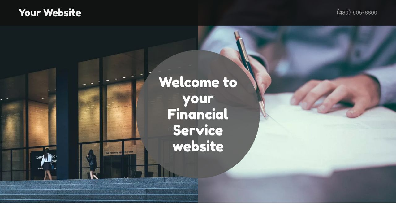 Financial Service Website: Example 1