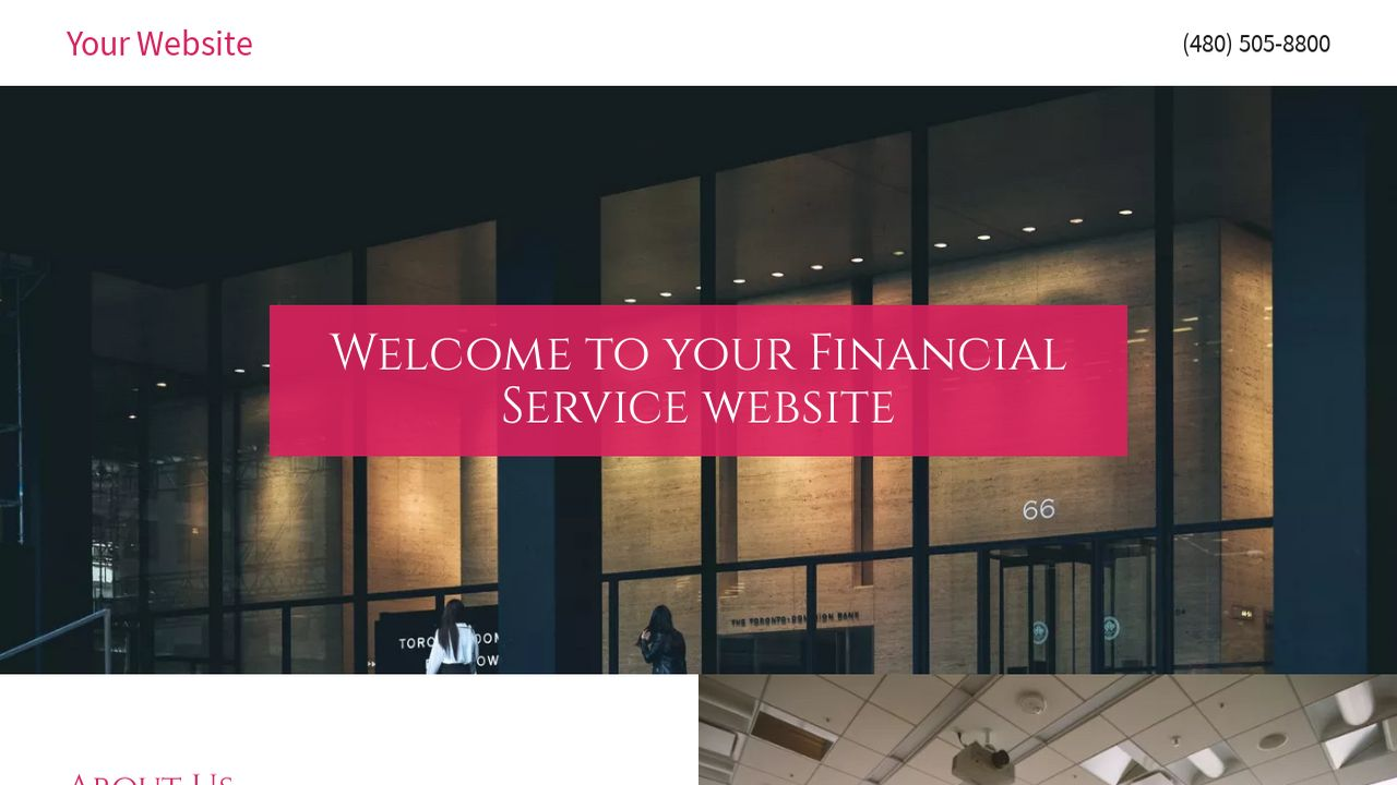 Financial Service Website: Example 10