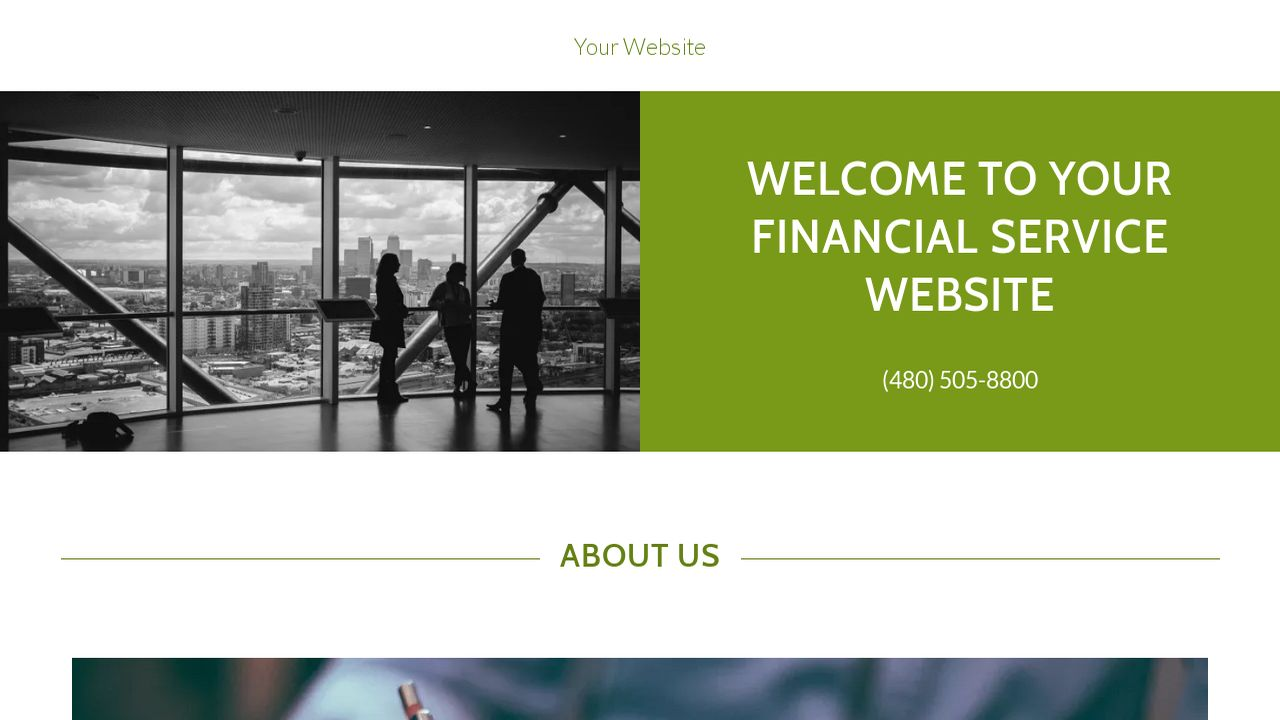 Financial Service Website: Example 12