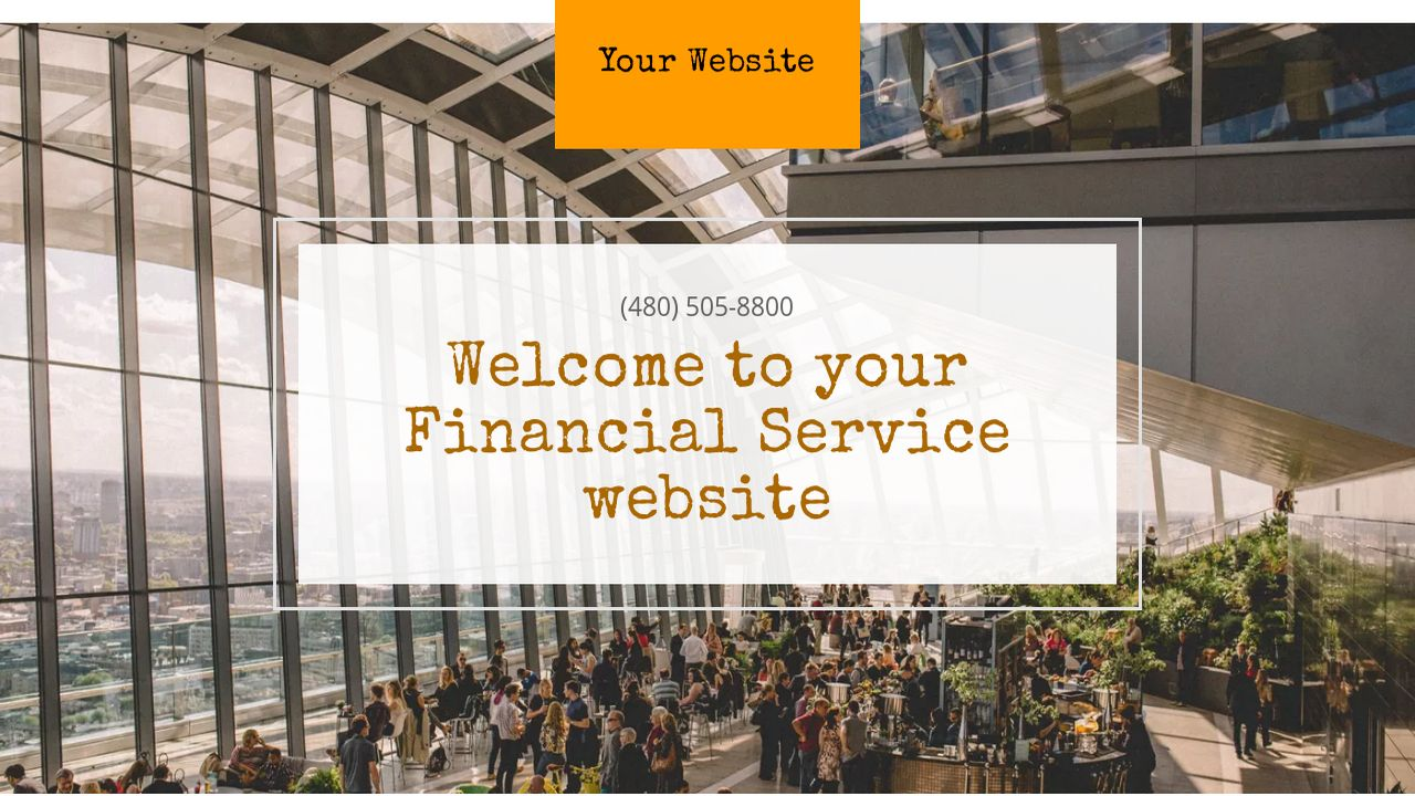 Financial Service Website: Example 13