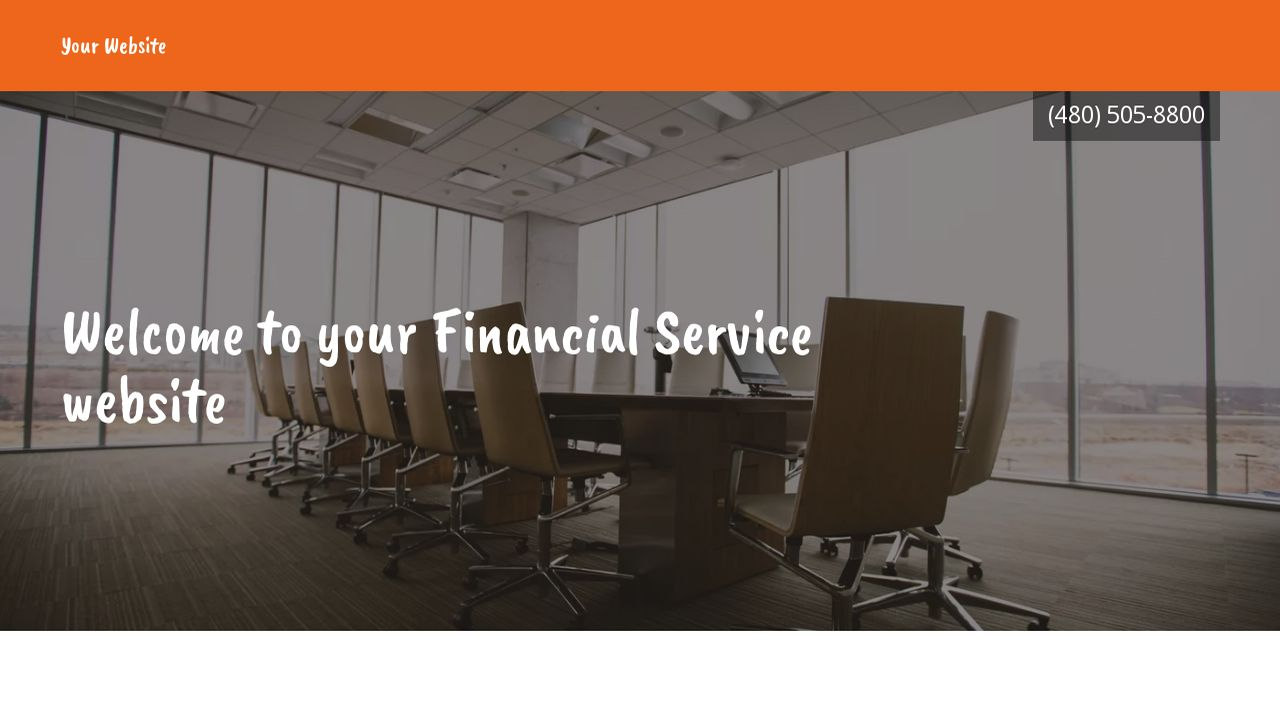 Financial Service Website: Example 16