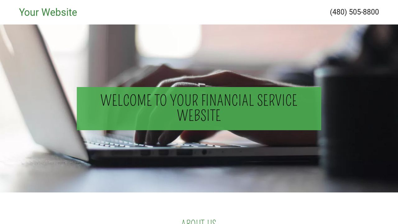 Financial Service Website: Example 17