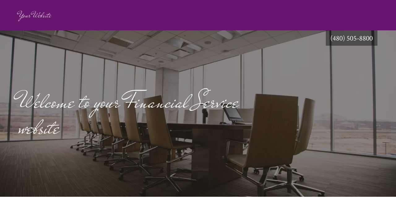 Financial Service Website: Example 2