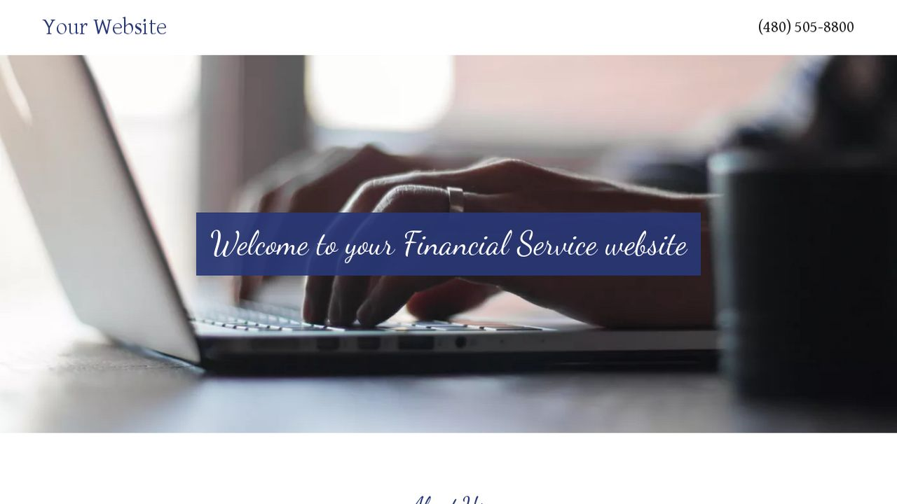 Financial Service Website: Example 3