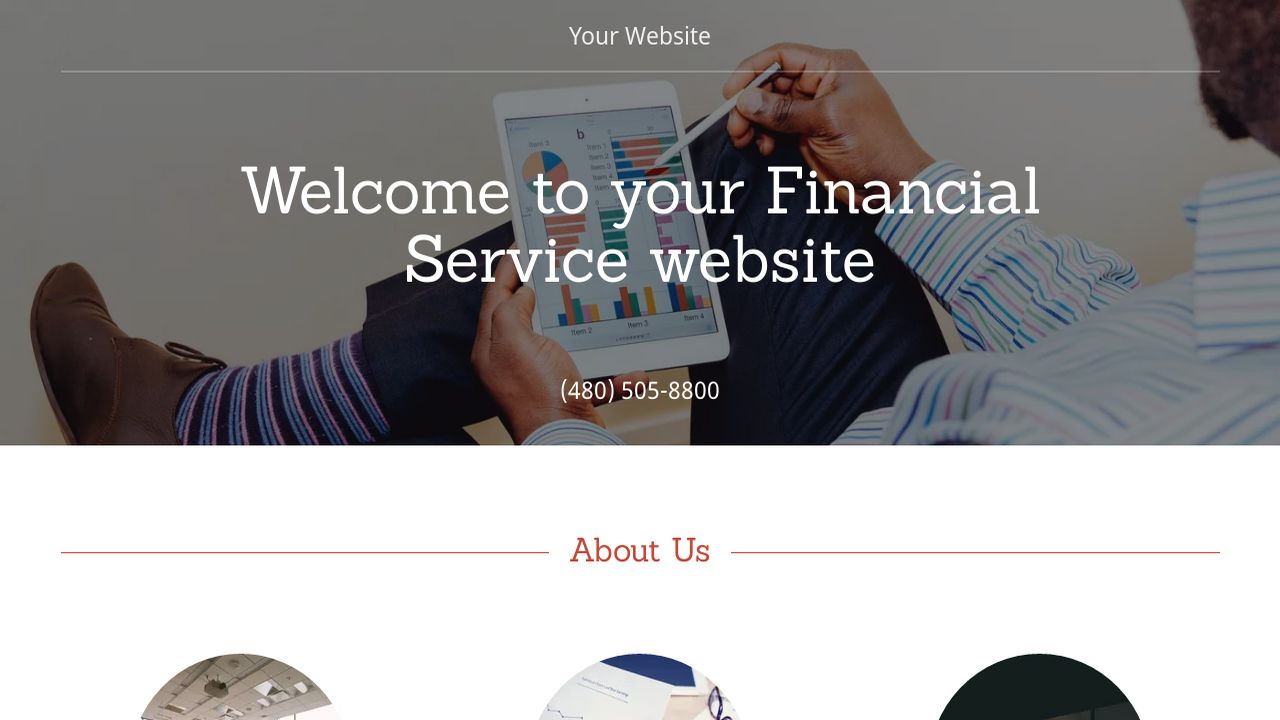 Financial Service Website: Example 4