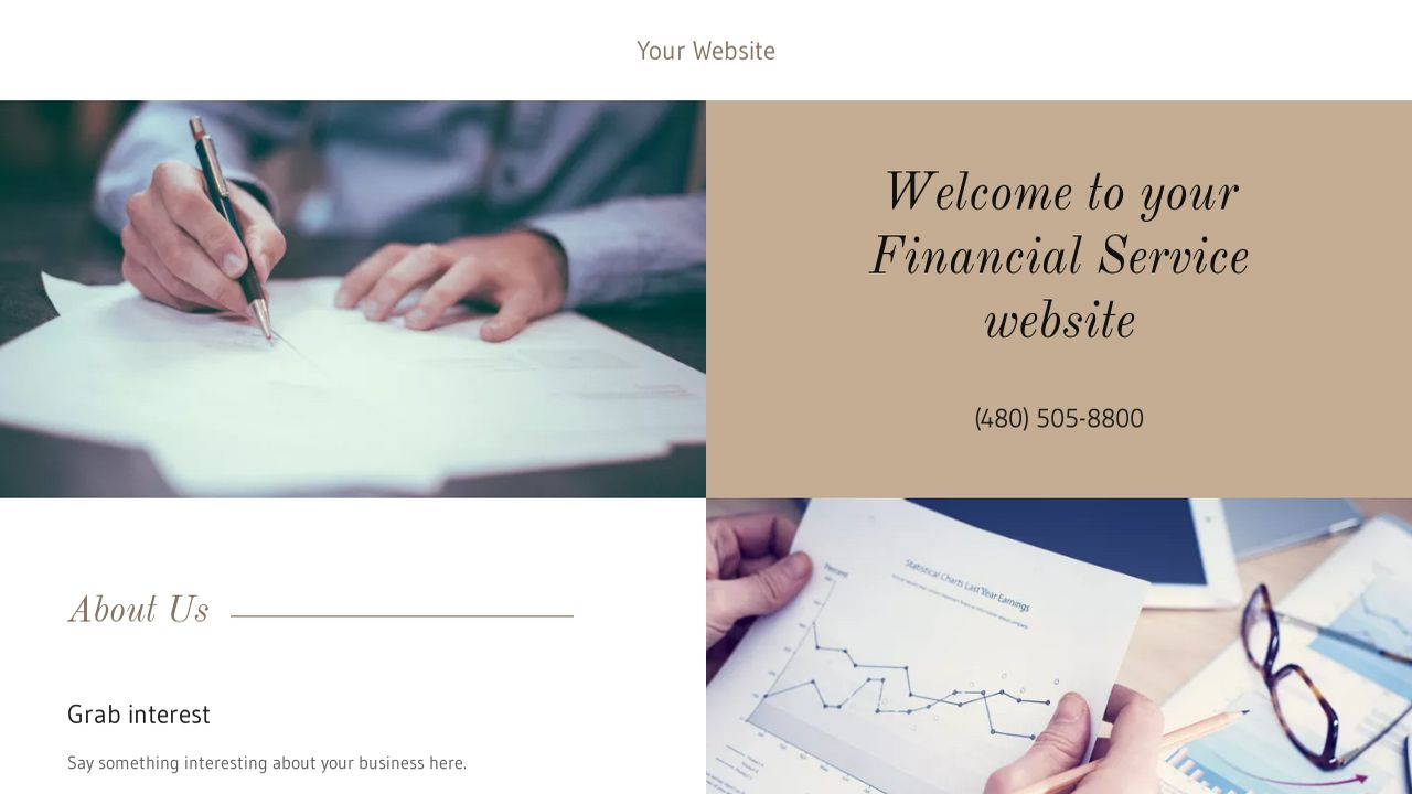 Financial Service Website: Example 5