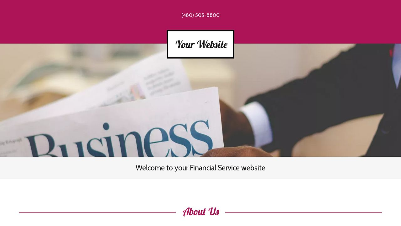 Financial Service Website: Example 7