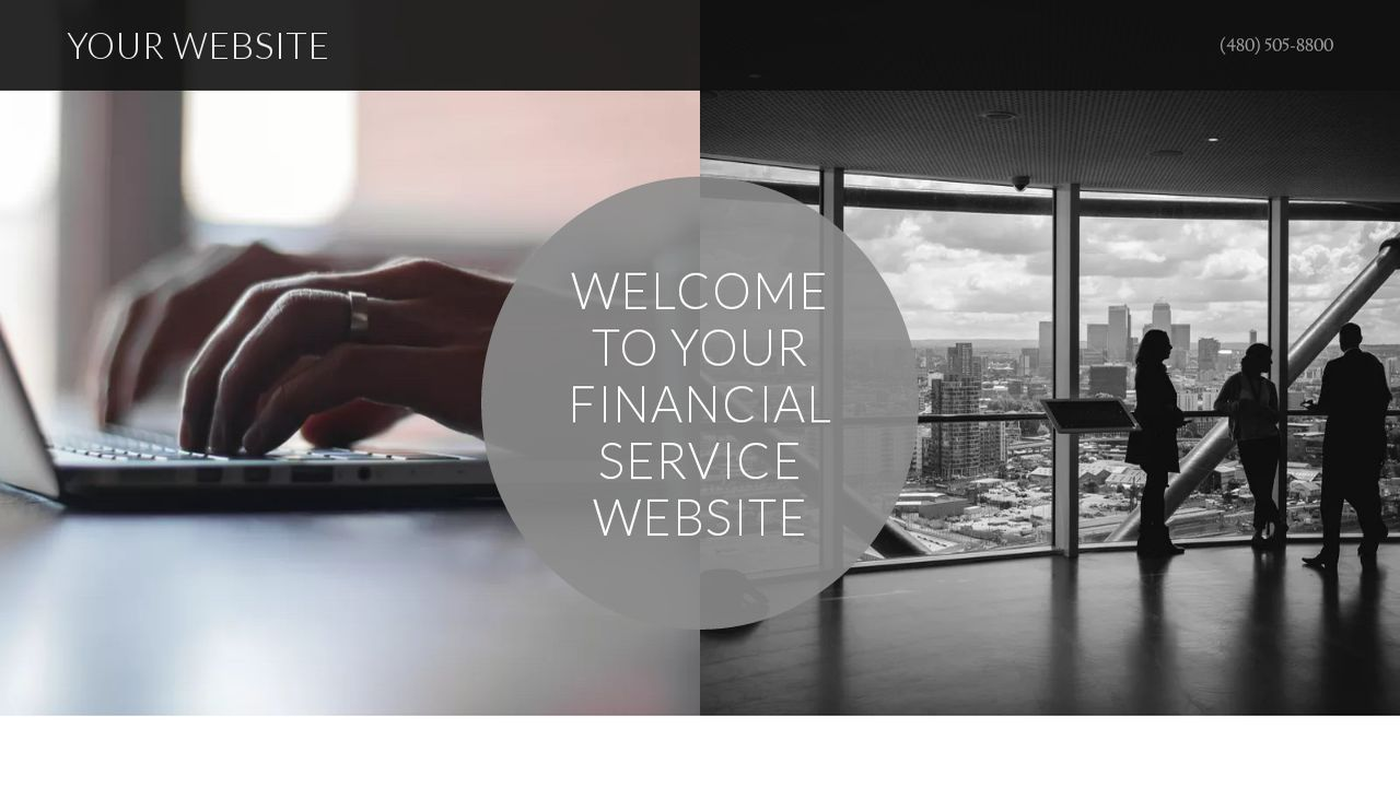 Financial Service Website: Example 8