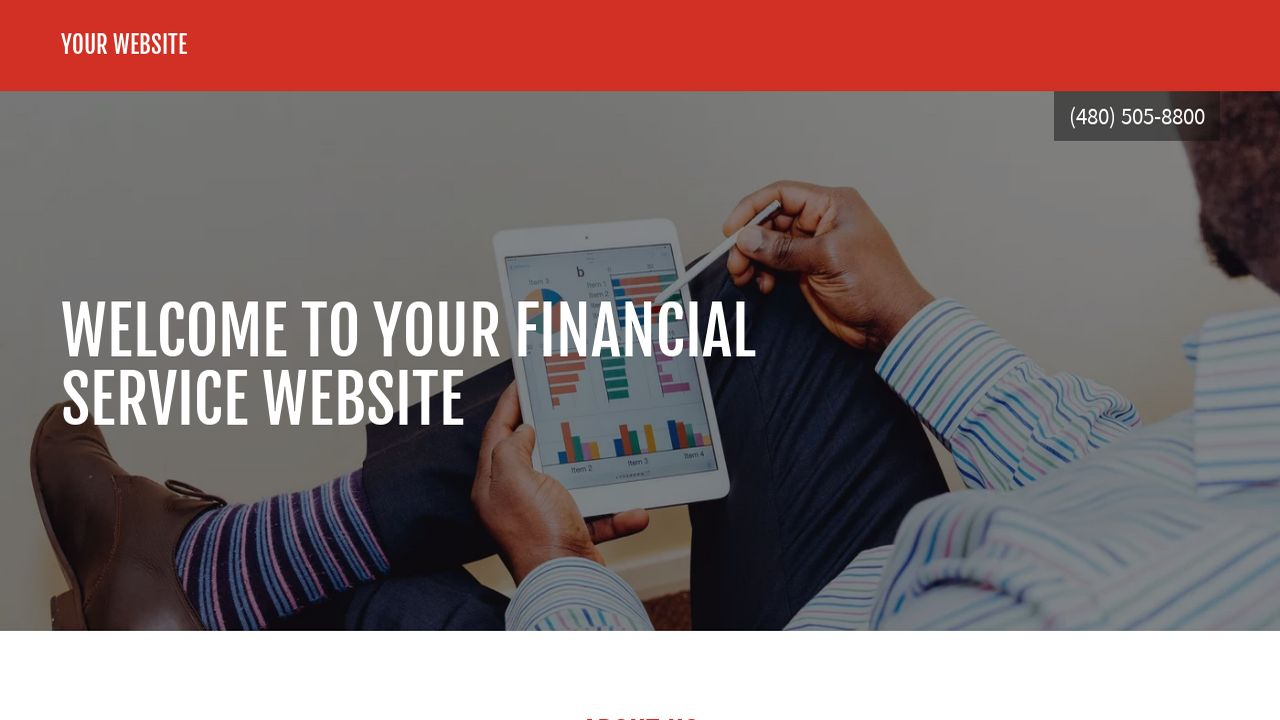 Financial Service Website: Example 9