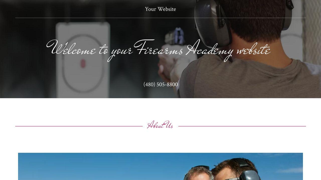 Firearms Academy Website Templates | GoDaddy