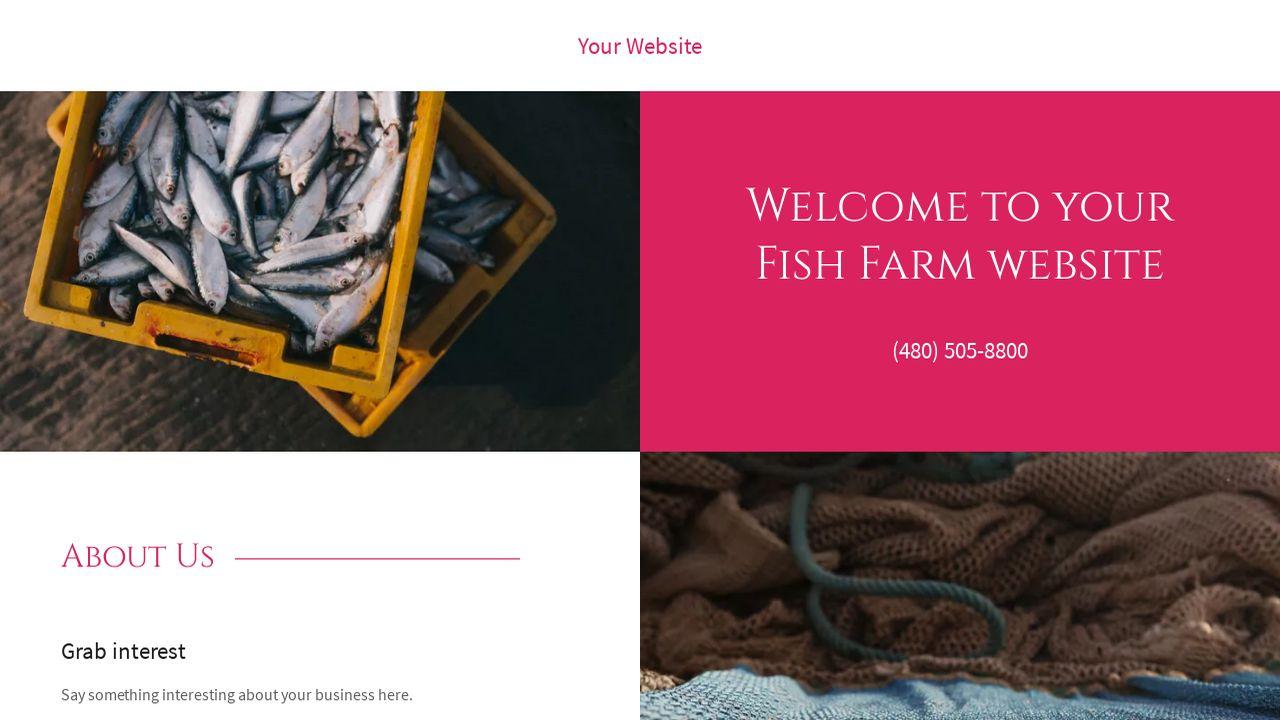 Fish farm website templates godaddy for Fish farm 3